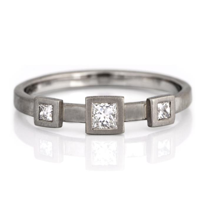 18pt Princess Cut Tri-Set
