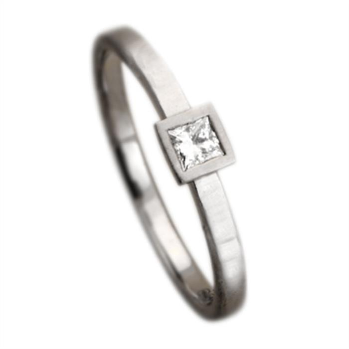 Narrow Princess Cut Ring
